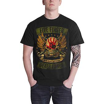 Five Finger Death Punch T Shirt Locked & Loaded band logo Official Mens Black
