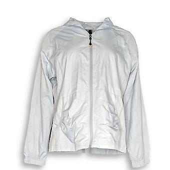 MAC Macintosh New England Frauen's Basic Jacke Zip Front Kapuzengrau