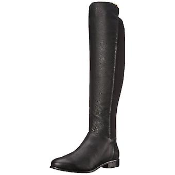 Cole Haan Womens Dutchess Boot Leather Almond Toe Knee High Riding Boots