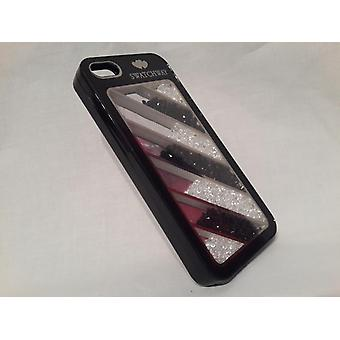 Apple Iphone 5 5S Wallet Case Beads 7 Bars Black