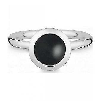 Куинн - Серебряное кольцо с ониксом - 02183862