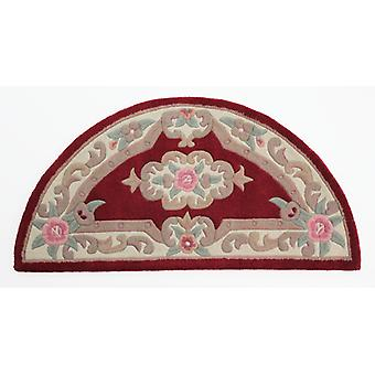 Lotus Premium Aubusson Rug - Media Luna - Rojo
