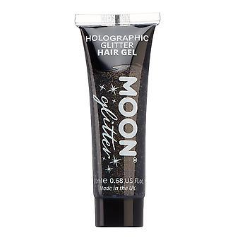 Holografic sclipici gel de păr de Moon Glitter-20ml-negru