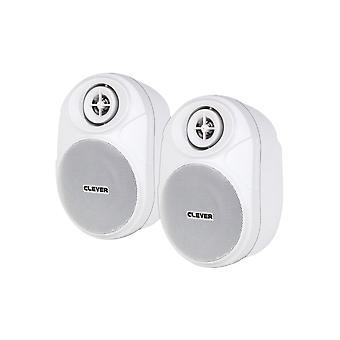 Slimme akoestiek Bgs20t witte 100V luidsprekers (paar)