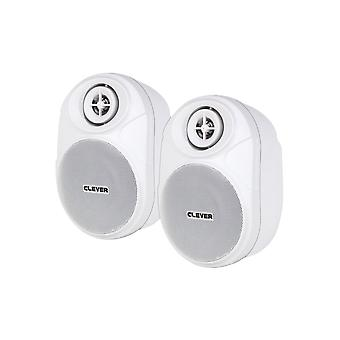 Clever Acoustics Bgs20t White 100v Speakers (pair)