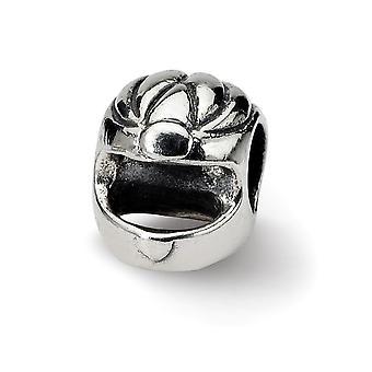 925 Sterling Silver Polerad finish Reflektioner Race Bil Hjälm Pärla Charm Hängande Halsband Smycken Gåvor för kvinnor