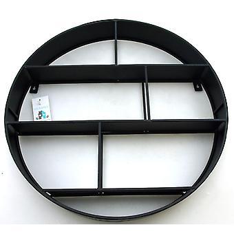 Hylly seinä metalli pyöreä D 47,5 cm