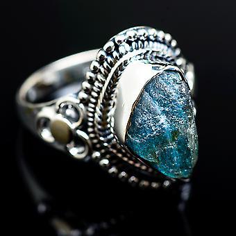 Grov Labradorite 925 sterling sølv ring størrelse 8,5-håndlavede Boho vintage smykker RING980427