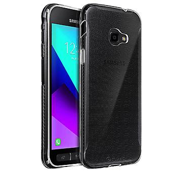 Galaxy Xcover 4/4S Silicone Case Shockproof Thin Crystal-Muvit, Transparente
