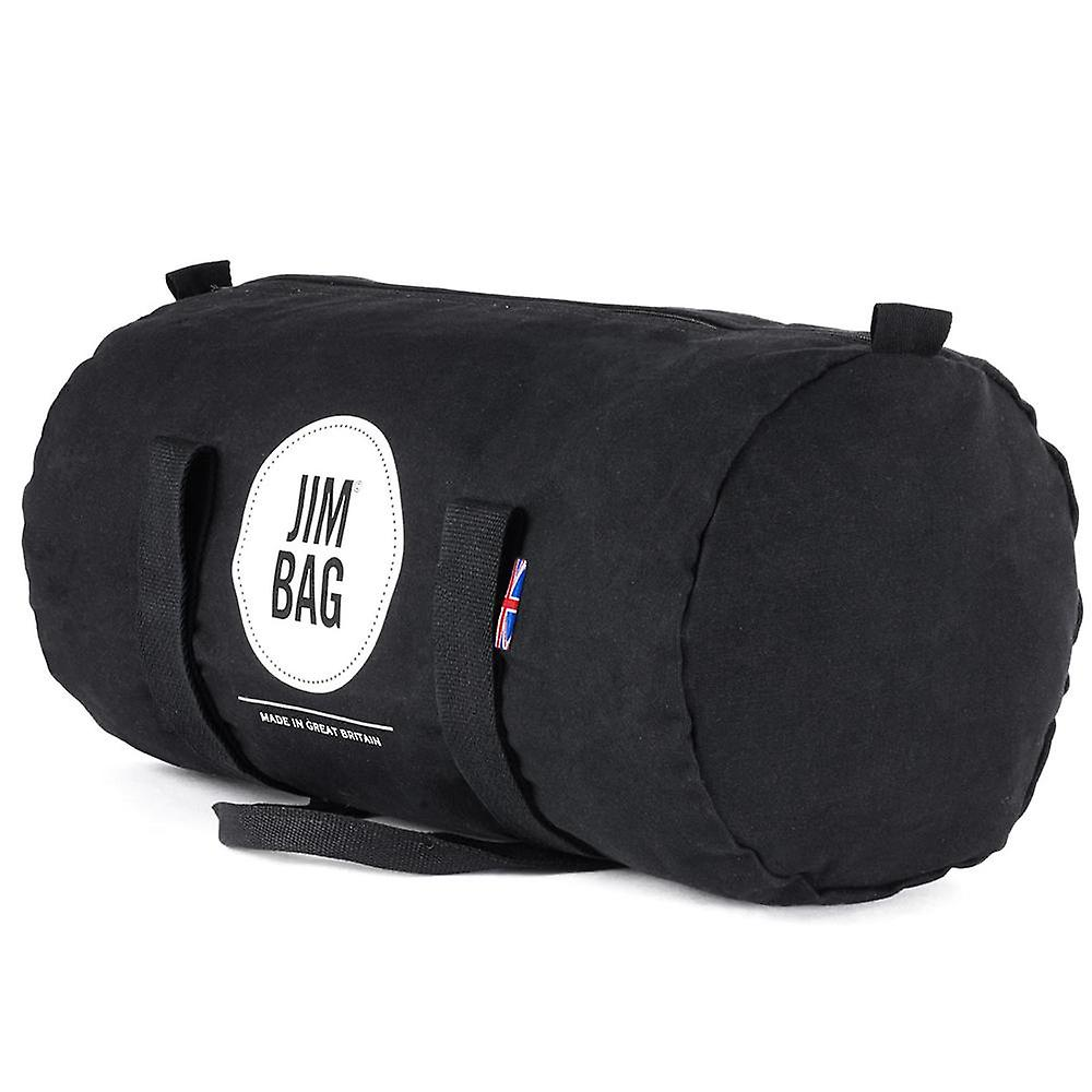 JIMBAG Black & Cream Barrel Sports Fitness Gym Overnight Travel Bag