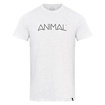 Animal Latide Short Sleeve T-Shirt in Light Grey Marl