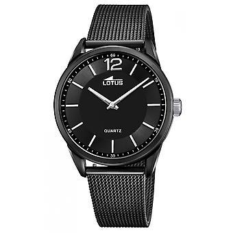 Lotus L18736-4 Watch - SMART CASUAL Steel Black Milanese Men