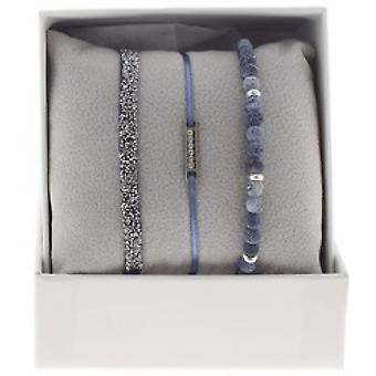 Scatola A48544 intercambiabili - linea di Box Mini piastra Palladium ornamenti strass / cristallo donna