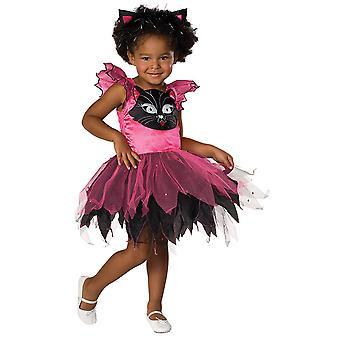 Kitty Cat Kinder Kostüm Mädchen Katze Kleid Karneval