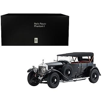 Rolls Royce Phantom I Black with Red Interior 1/18 Diecast Model Car by Kyosho
