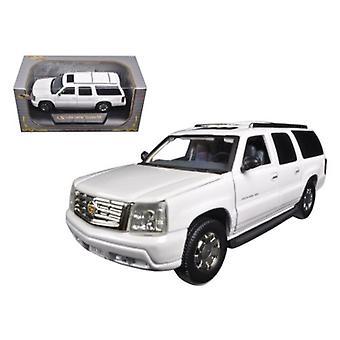 2004 Cadillac Escalade ESV Pearl White 1/32 Diecast Car Model di Modelli Firma