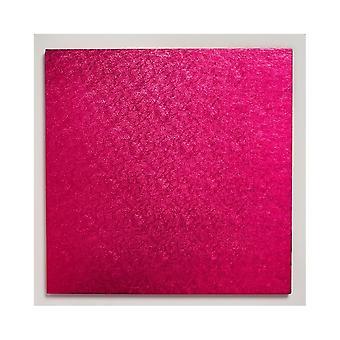 """Culpitt 10"""" (254mm) Cake Board Square Cerise Pack Of 5"""