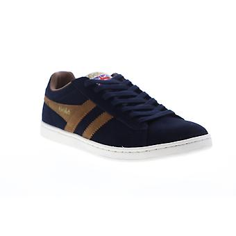 Gola Equipe Suede  Mens Blue Low Top Lace Up Lifestyle Sneakers Shoes