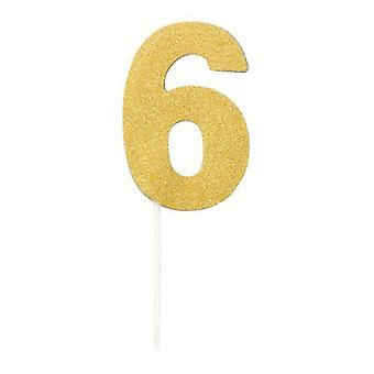 Diamond Cake Toppers Gold No. 6