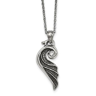 Collar de acero inoxidable y ala pulida de 18 pulgadas regalos de joyería para mujeres