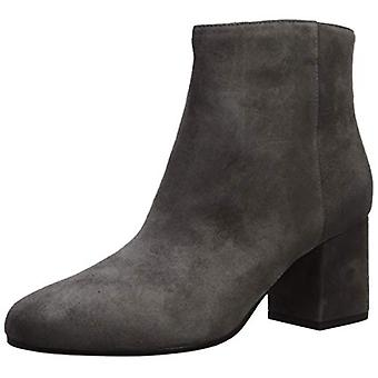 VIA SPIGA Women's Maury Ankle Boot, Grey Suede, 9.5 M US