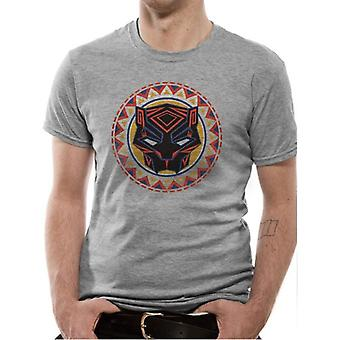 Marvel Black Panther Logo In Circle T-Shirt