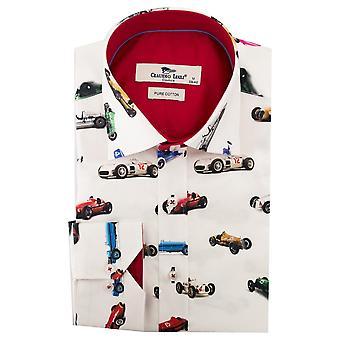 Клаудио Lugli F1 гоночный автомобиль печати Мужская рубашка