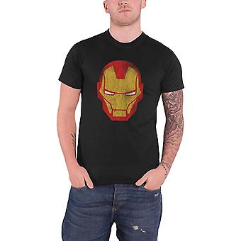 Marvel Comics Mens T Shirt Black Avengers Iron Man Distressed Official