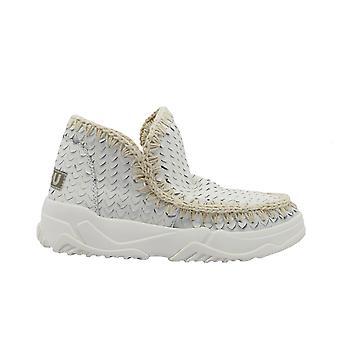Mou Eskimotrainerspec Women's White Leather Ankle Boots