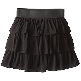 Amy Byer Girls' Big Pull-On Tiered Skirt for School or Play,, Black, Size Medium