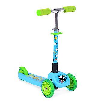 Moni barnens skoter Teo & Dea 3 PU hjul framhjul Ljus vikbar höjd justerbar