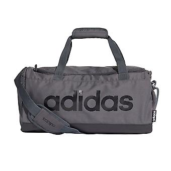 adidas Linear Sports Gym Duffel Holdall Bag Small Grey/Black