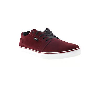 Harley-Davidson Tompkins  Mens Red Suede Lace Up Low Top Sneakers Shoes