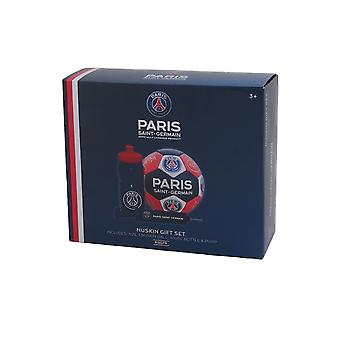 PSG Official Gift Set Maat 3 Crest Voetbal Waterbottle & Pump