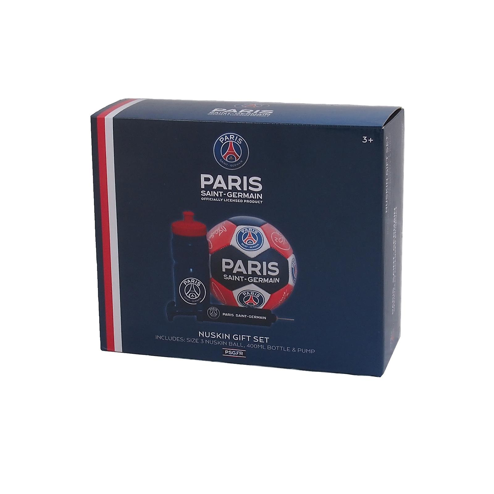 Psg Official Gift Set Size 3 Crest Football Waterbottle Pump Fruugo Us