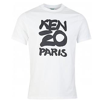 Kenzo Printed Logo White T-shirt