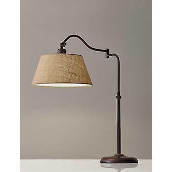 Mørk bronze metal swing arm justerbar bordlampe