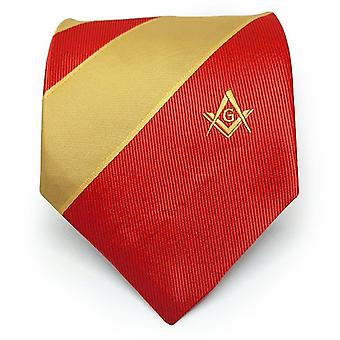 Masonic masons  and yellow tie with square compass & g