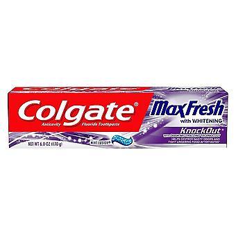 Colgate maxfresh knockout toothpaste, mint fusion, 6 oz