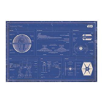 Star Wars, Affiche Maxi - Plan directeur de la flotte impériale