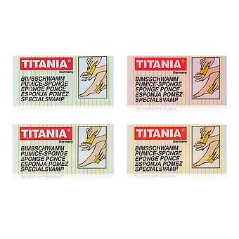 Titania Foot Pumice Sponge Hard Dead Skin Callus Remover Scrub Exfoliating 4Pack