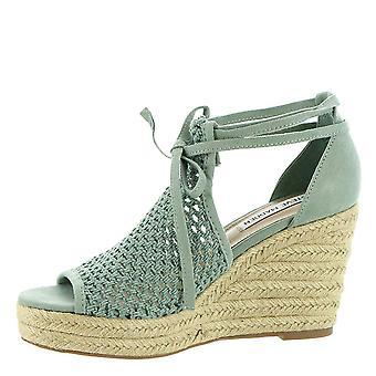 Steve Madden mulheres Bambino tecido aberto Toe casual Strappy sandálias