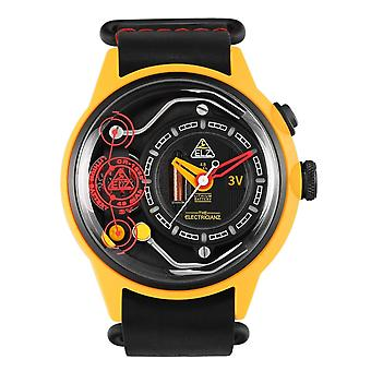 The Electricianz ZZ-A1A-01 The Ammeter Yellow Case Wristwatch