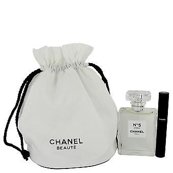Chanel No. 5 L'eau Gift Set door Chanel 3.4 oz Eau De Toilette Spray + Le Volume 10 Mascara in Gift etui