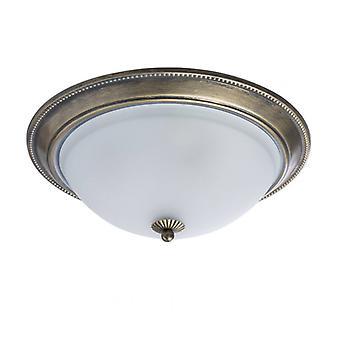 Klassische Messing Deckenleuchte 3 Glühbirnen Durchmesser 38 Cm