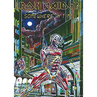 Iron Maiden Poster Textile Flag Somewhere in Time Official Black 70cm x 106cm