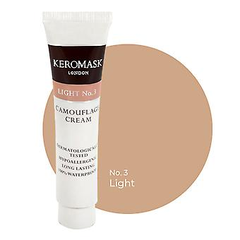 Keromask Full Cover Concealer | 24 Shades | Covers Vitiligo, Rosacea, Scars, Tattoos | Waterproof Camouflage Makeup | Light No 3 | 15ml