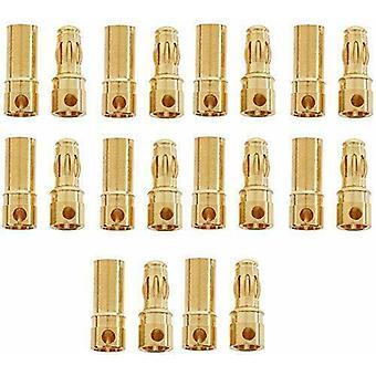 10 paires de connecteurs banane de 3 mm pour Lipo RC pour rc Lipo Model Batteries