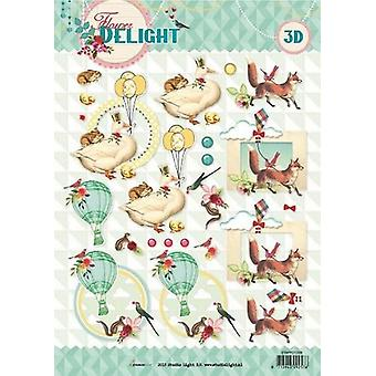 Studio Light Cutting sheet 10 Sheets A4 Flower Delight nr 1338 STAPFD1338