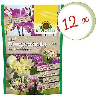 Sparset: 12 x NEWDORFF Azet® FertilizerSauvat orkideat, 40 tikkua